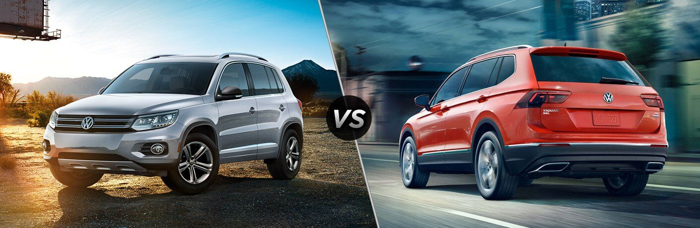2017 VW Tiguan front view and 2017 VW Tiguan back view