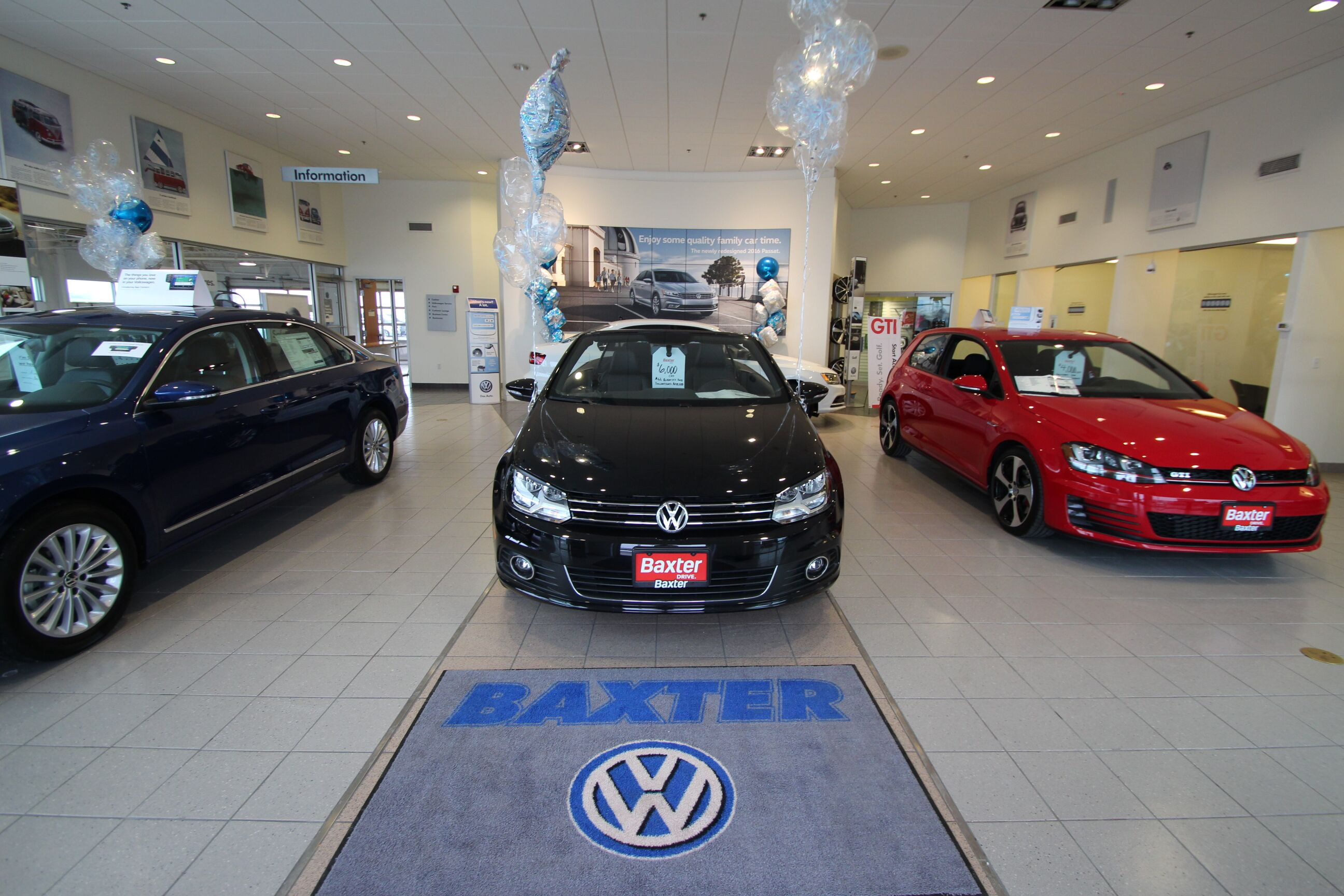 Showroom Baxter Volkswagen Westroads Omaha, NE