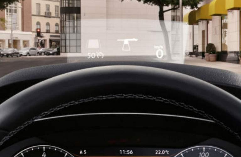 2018 VW Arteon head-up display