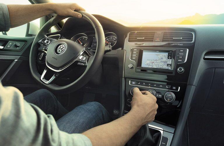 new VW Golf SportWagen technology features controls
