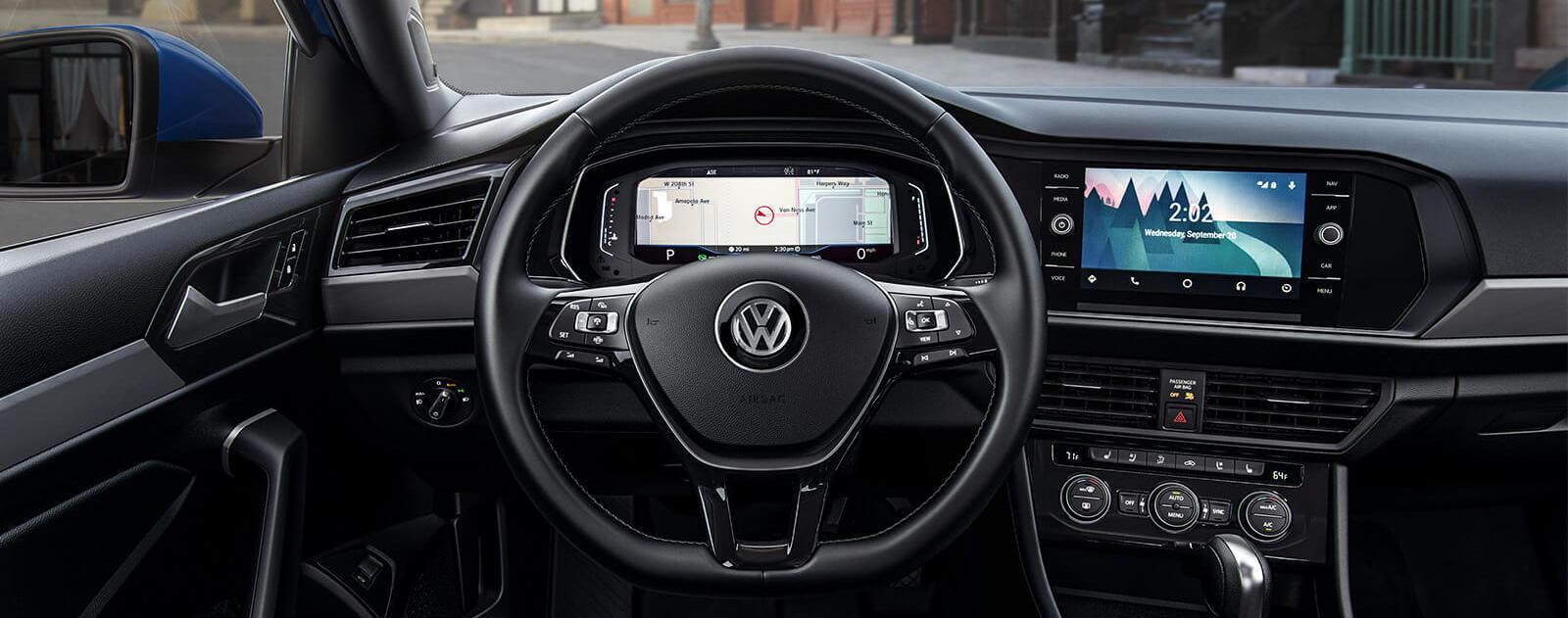 New 2019 Volkswagen Jetta digital gauge cluster & 8 inch touchscreen navigation