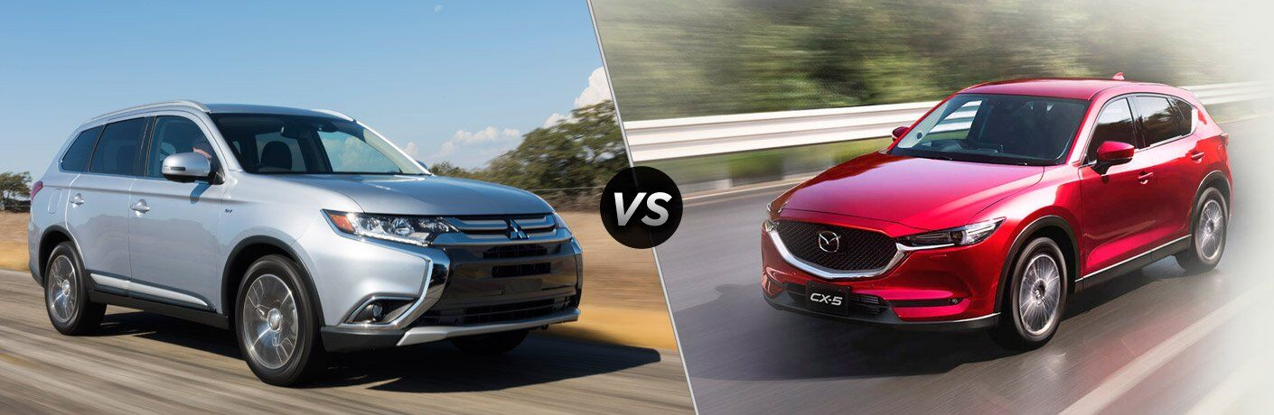 2017 Mitsubishi Outlander vs. 2017 Mazda CX-5