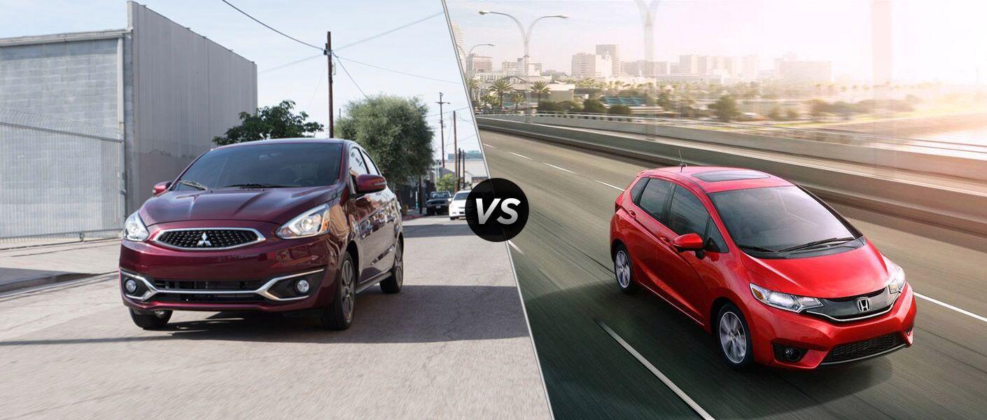 2017 Mitsubishi Mirage vs 2016 Honda Fit