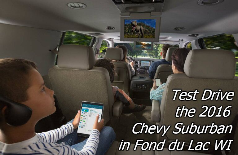 test drive the chevy suburban in fond du lac