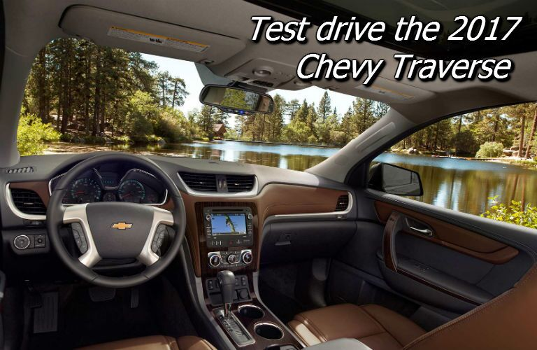where can i test drive the 2017 chevy traverse in fond du lac county?