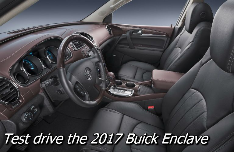 test drive the 2017 buick enclave in fond du lac