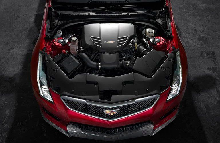 under the hood of the 2017 cadillac ats-v