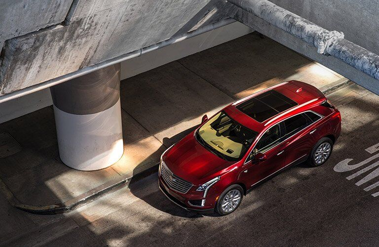 overhead view of the 2017 Cadillac XT5