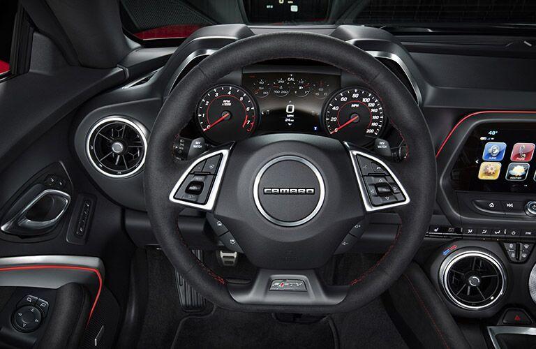 2017 chevy camaro steering wheel design
