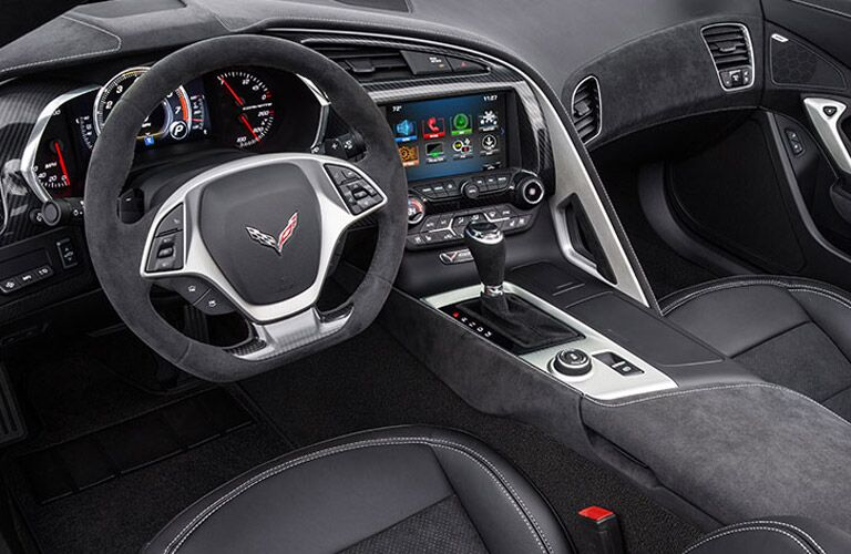 2017 chevy corvette interior features and design