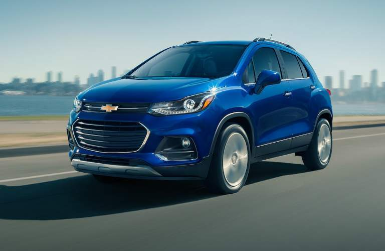 2017 Chevy Trax blue front view
