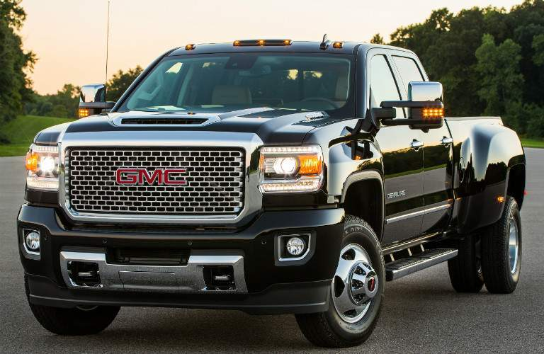 2017 GMC Sierra 3500HD Denali black side view
