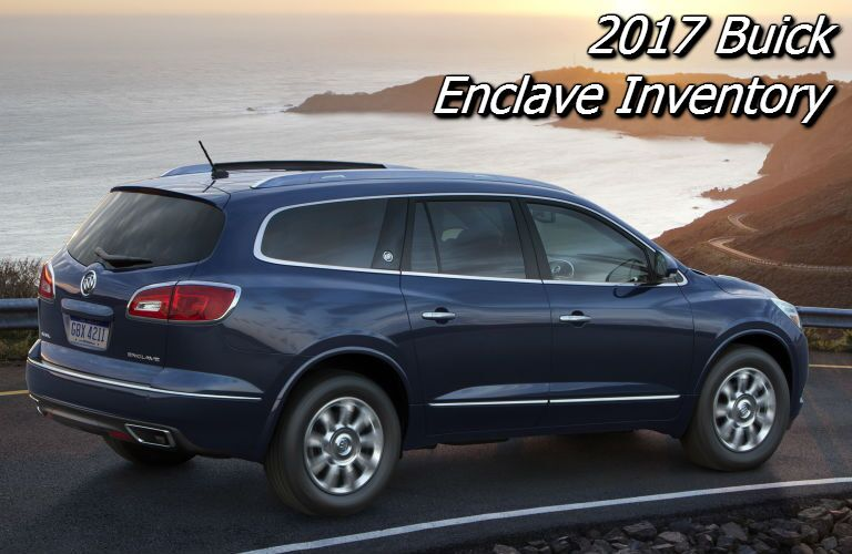 new inventory of 2017 buick enclave in the fox valley