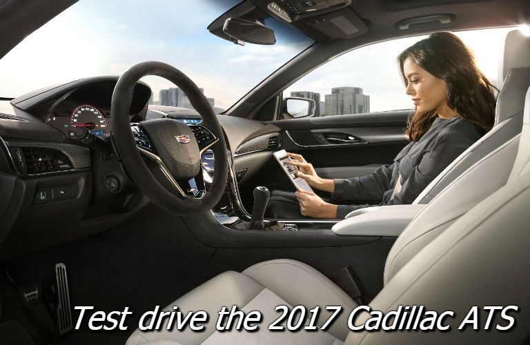 test drive the 2017 cadillac ats in fond du lac wi