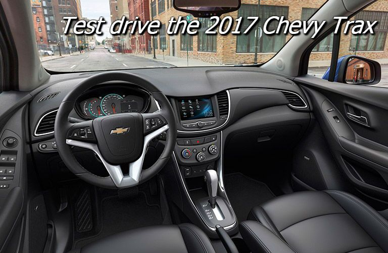 schedule a test drive for the 2017 trax