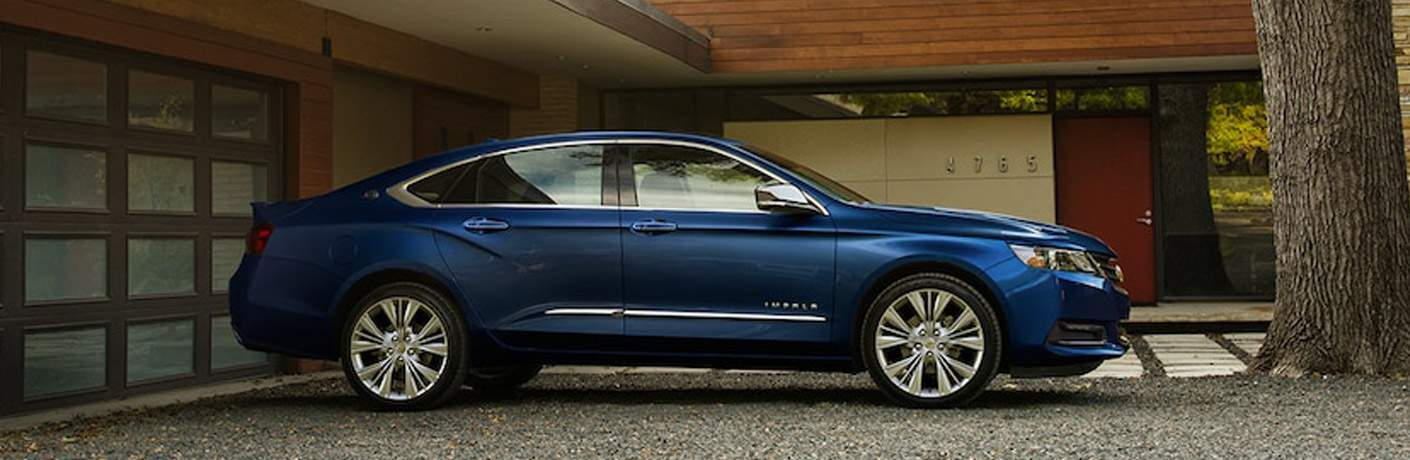 2018 Chevy Impala blue side view