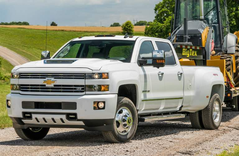 2018 Chevy Silverado 3500HD white front view
