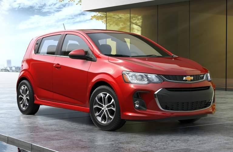 2018 Chevy Sonic red side view