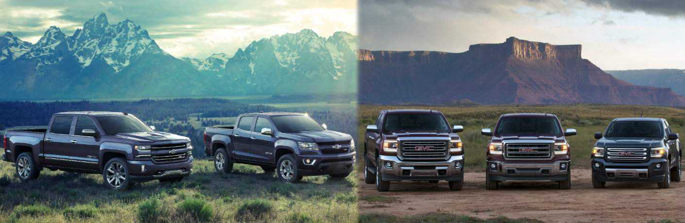 Chevy and GMC truck lineup
