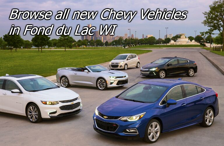 new chevy vehicles in fond du lac