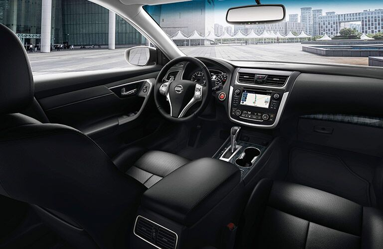 2017 Nissan Altima interior with black leather