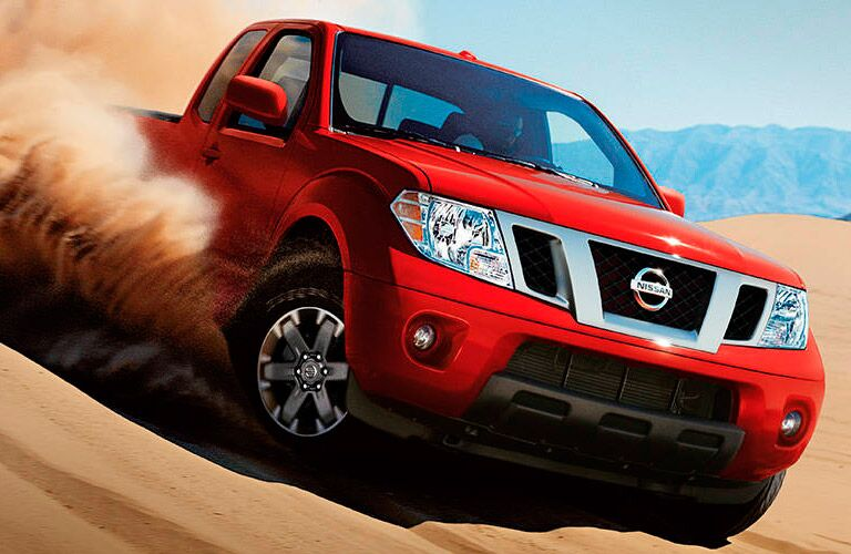 2017 Nissan Frontier four-wheel drive in the sand