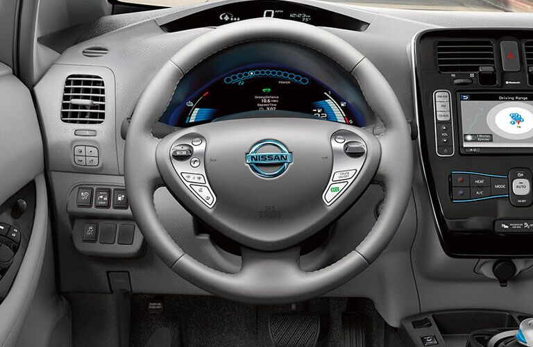 2017 Nissan Leaf Steering Wheel detail