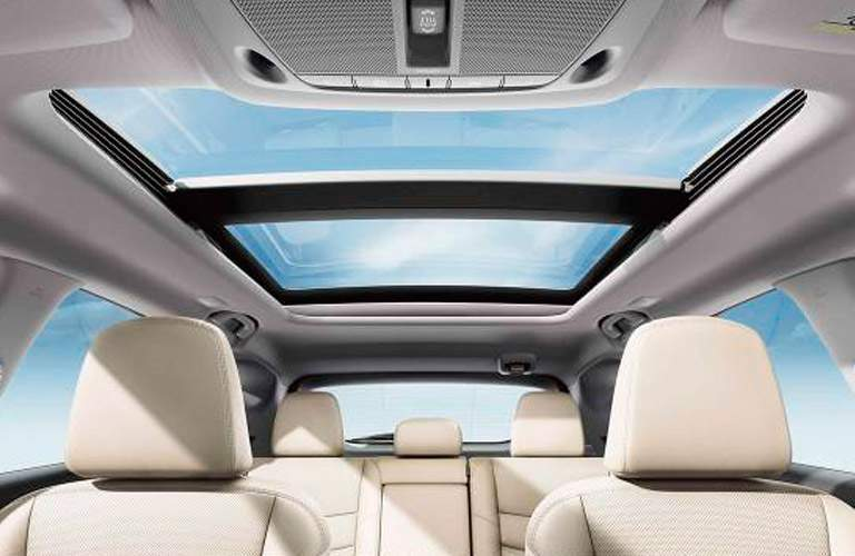 moonroof interior of 2018 nissan murano