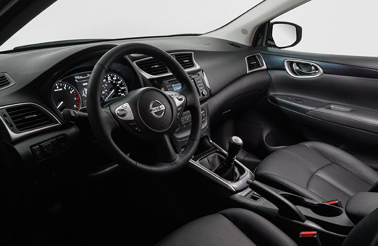 2017 Nissan Sentra Black Leather Interior