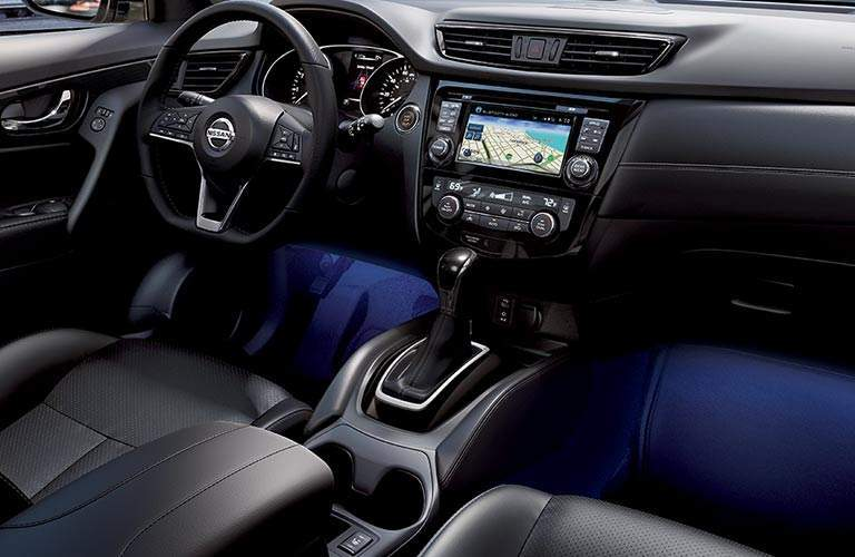 2017 Nissan Rogue with interior lighting