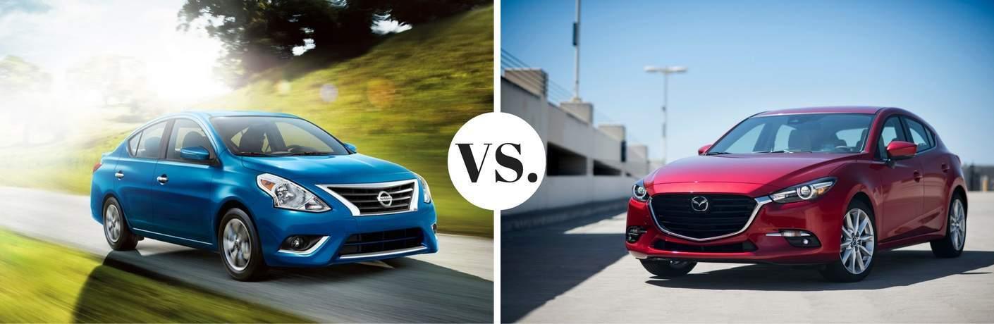 2017 Nissan Sentra vs 2017 Mazda3