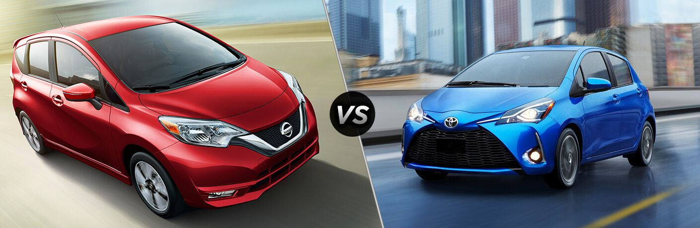 2018 nissan versa note vs 2018 toyota yaris