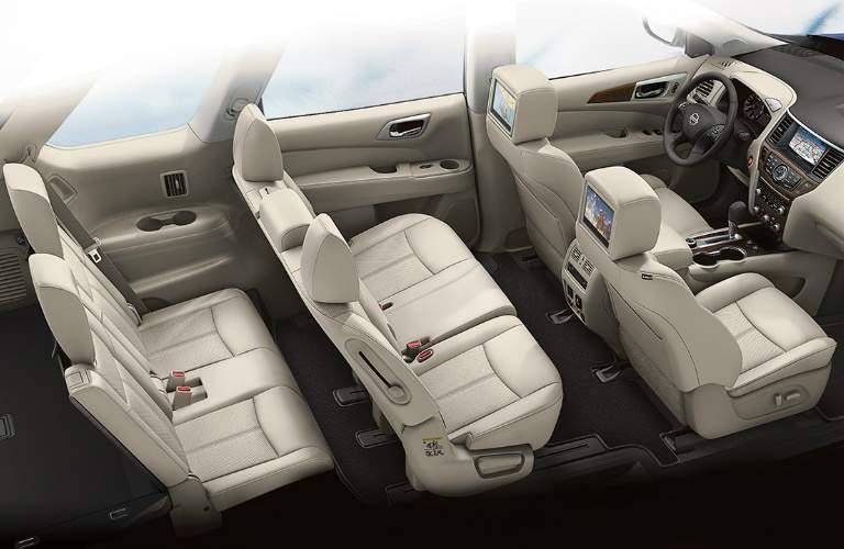 2018 Nissan Pathfinder seven passenger interior seats