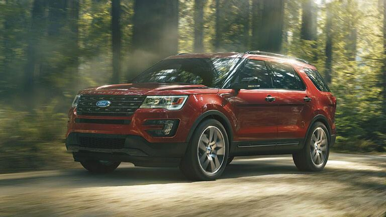 2016 Ford Explorer in forest