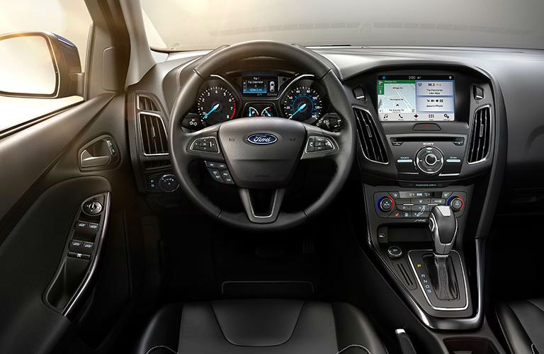 The 2016 Ford Focus has an intuitive cockpit and steering functionality.