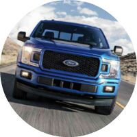front view blue 2018 Ford F-150