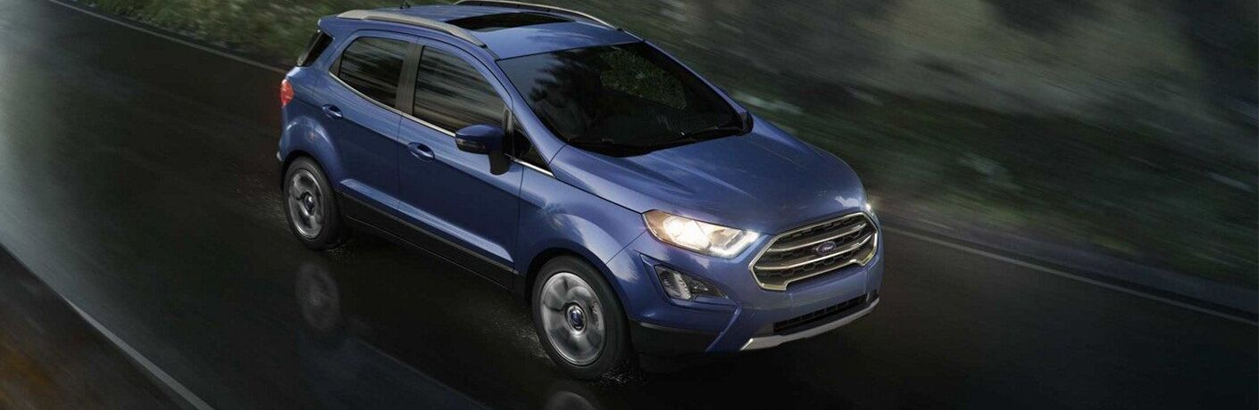 2019 Ford EcoSport on a wet road