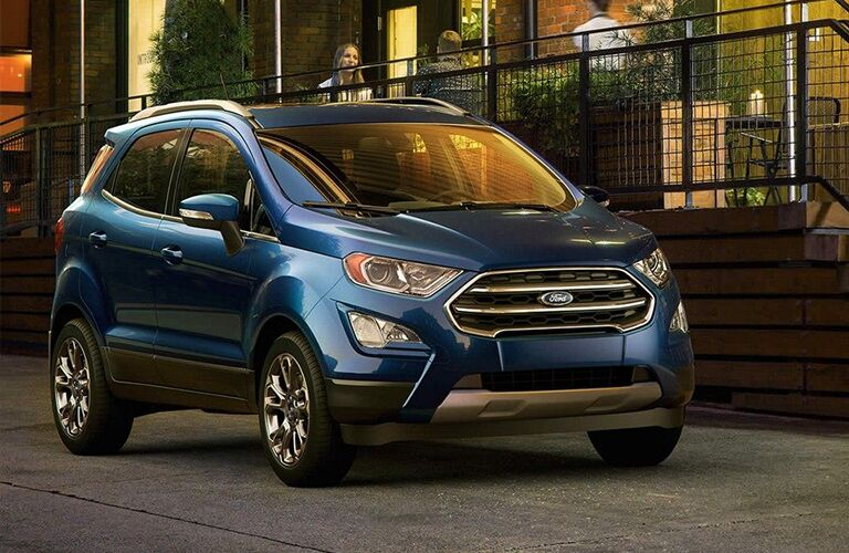 2019 Ford EcoSport parked outside an office building