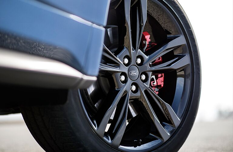 close up of wheel on 2019 edge