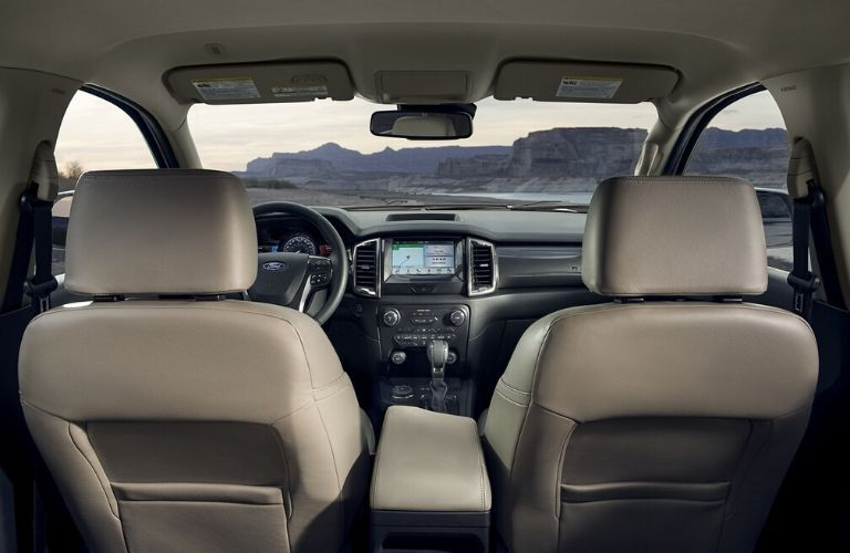 2020 Ford Ranger interior view of back seat passenger
