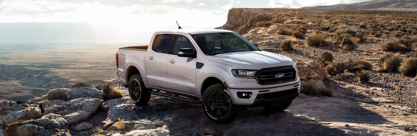 2020 Ford Ranger parked near rocks