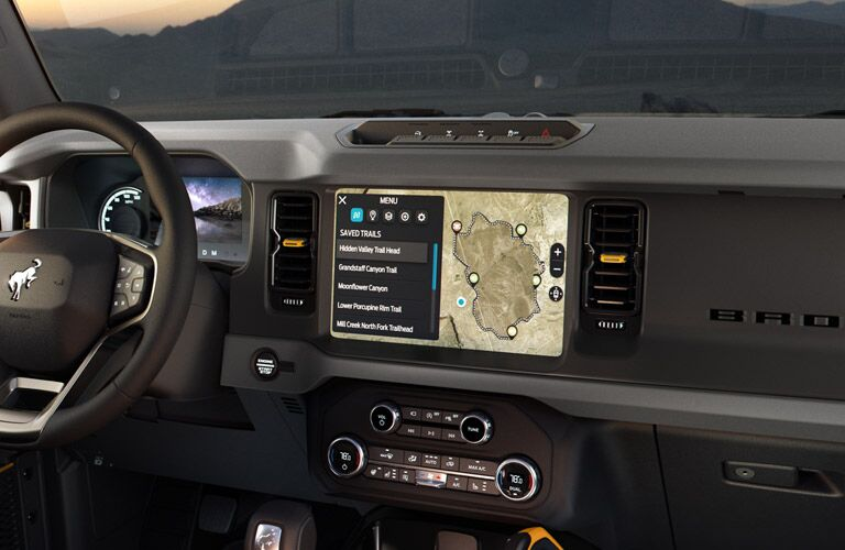 Touchscreen display on 2021 Ford Bronco