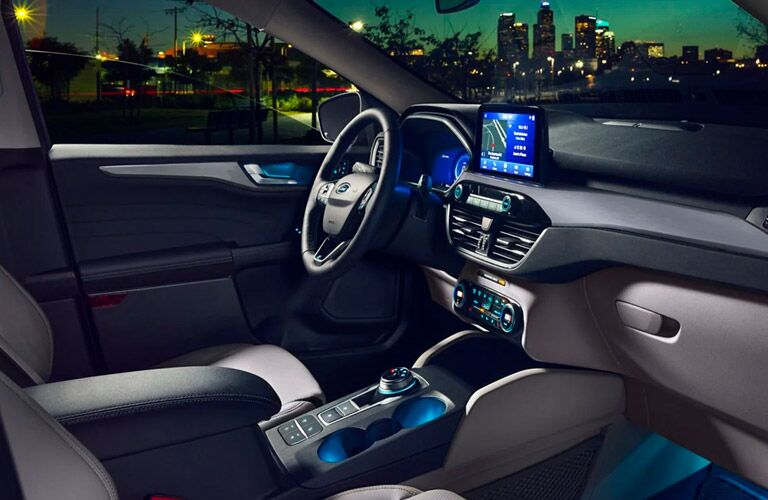 2021 Ford Escape steering and dashboard view
