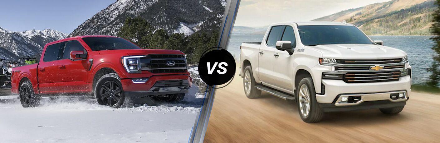 2021 Ford F-150 vs 2021 Chevrolet Silverado 1500
