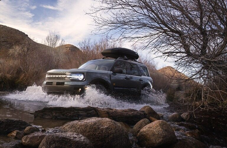2021 Ford Bronco driving through water