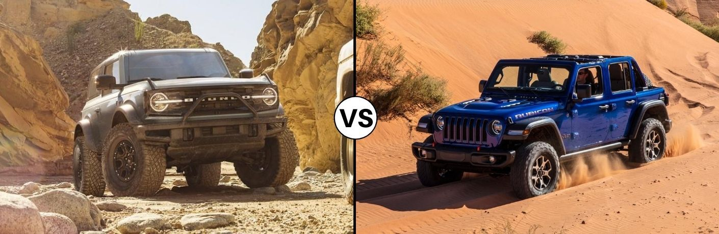 2021 Ford Bronco vs 2020 Jeep Wrangler