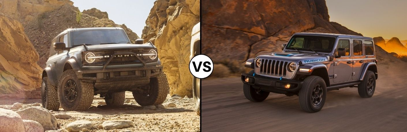 2021 Ford Bronco vs 2021 Jeep Wrangler