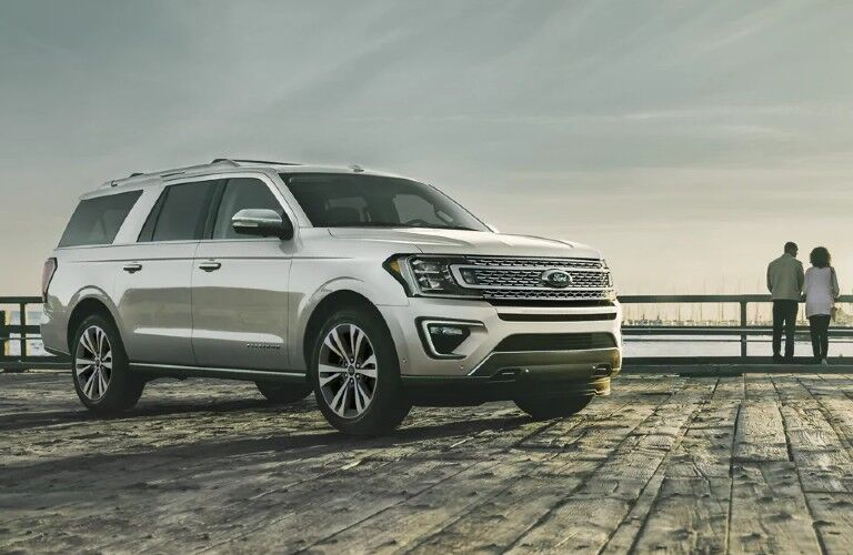 2021 Ford Expedition on dock with people standing at railing