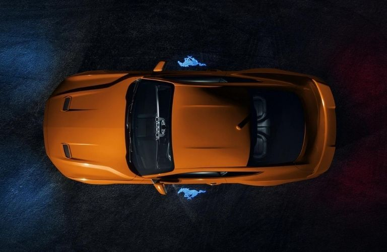 2021 Ford Mustang top view