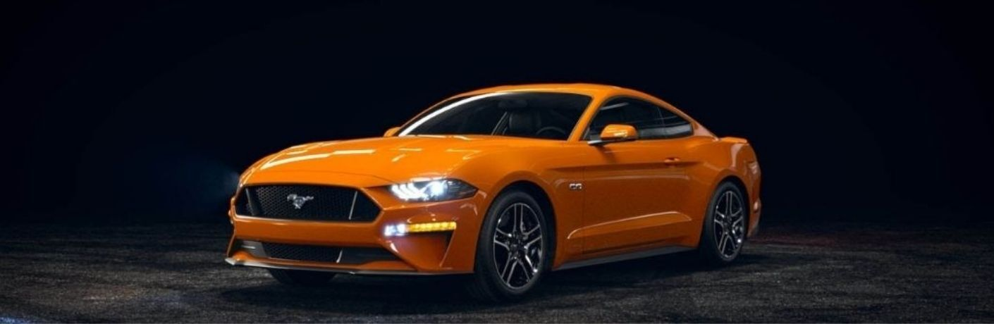 2021 Ford Mustang front and side look